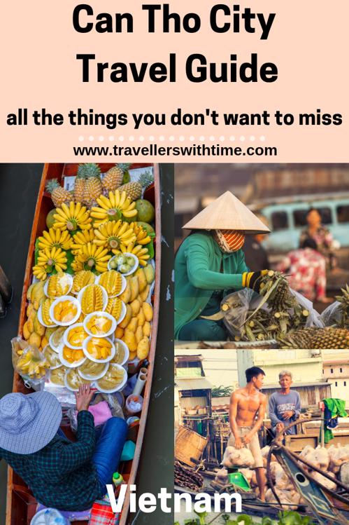 A complete travel guide for Can Tho City. Beautiful temples, ancient houses and magnificent floating markets. You won't want to miss this great city in the heart of the Mekong #vietnam #floatingmarket #city #travellerswithtime #travel