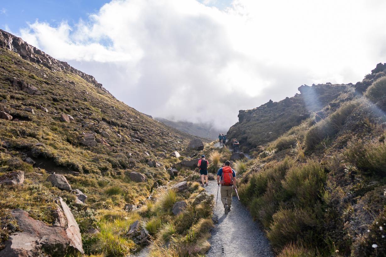 The Tongoriro National Park - beginning of the Tongariro crossing