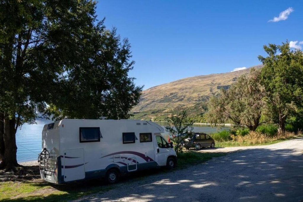 Campervan parking places in New Zealand