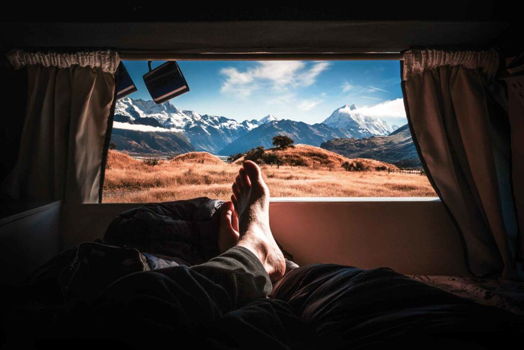 cheap campervan hire Auckland, a view of Mount Cook on a New Zealand Road trip
